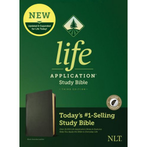 NLT Life Application Study Bible, Third Edition (Genuine Leather, Black, Indexed) - Genuine Leather Black With thumb index and ribbon marker(s)