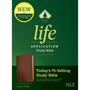NLT Life Application Study Bible, Third Edition (Red Letter, LeatherLike, Brown/Mahogany) - LeatherLike Brown/Mahogany/Multicolor With ribbon marker(s)