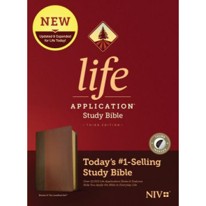 NIV Life Application Study Bible, Third Edition (LeatherLike, Brown/Mahogany, Indexed) - LeatherLike Brown/Mahogany/Multicolor With thumb index and ribbon marker(s)