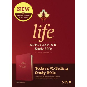 NIV Life Application Study Bible, Third Edition (LeatherLike, Berry) - LeatherLike Berry With ribbon marker(s)