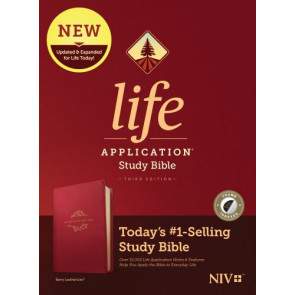 NIV Life Application Study Bible, Third Edition (LeatherLike, Berry, Indexed) - LeatherLike Berry With thumb index and ribbon marker(s)