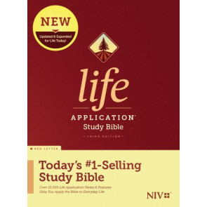 NIV Life Application Study Bible, Third Edition (Red Letter, Hardcover) - Hardcover With printed dust jacket