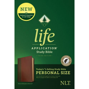 NLT Life Application Study Bible, Third Edition, Personal Size (LeatherLike, Brown/Tan, Indexed) - LeatherLike Brown/Multicolor/Tan With thumb index and ribbon marker(s)