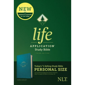 NLT Life Application Study Bible, Third Edition, Personal Size (LeatherLike, Teal Blue) - LeatherLike Teal Blue With ribbon marker(s)