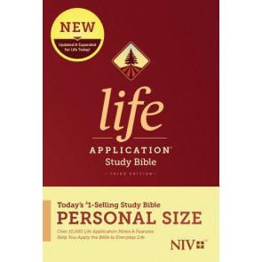 NIV Life Application Study Bible, Third Edition, Personal Size (Hardcover) - Hardcover With printed dust jacket