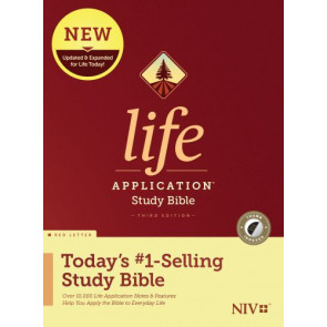 NIV Life Application Study Bible, Third Edition (Red Letter, Hardcover, Indexed) - Hardcover With thumb index