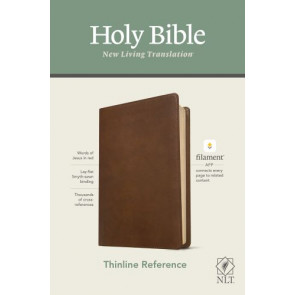 NLT Thinline Reference Bible, Filament Enabled Edition (Red Letter, LeatherLike, Rustic Brown) - LeatherLike Rustic Brown With ribbon marker(s)