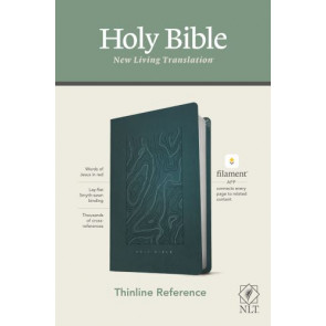 NLT Thinline Reference Bible, Filament Enabled Edition (Red Letter, LeatherLike, Earthen Teal Blue) - LeatherLike Earthen Teal Blue With ribbon marker(s)