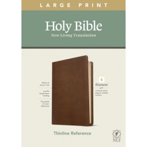 NLT Large Print Thinline Reference Bible, Filament Enabled Edition (Red Letter, LeatherLike, Rustic Brown) - LeatherLike Rustic Brown Imitation Leather With ribbon marker(s)