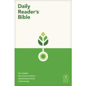 NLT Daily Reader's Bible (Red Letter, Hardcover) - Hardcover
