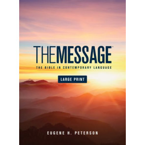 The Message Large Print (Hardcover) - Hardcover With printed dust jacket and ribbon marker(s)