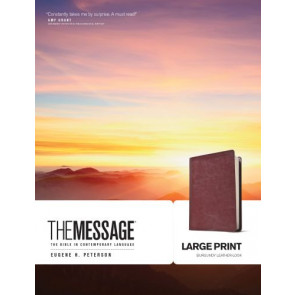 The Message Large Print (Leather-Look, Burgundy) - Leather-Look Burgundy With ribbon marker(s)