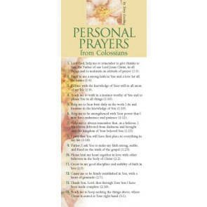 Personal Prayers from Colossians 50-pack - Cards
