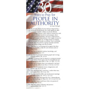30 Ways to Pray for People in Authority 50-pack - Cards