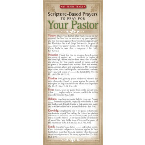Scripture-Based Prayers to Pray for Your Pastor 50-pack - Cards