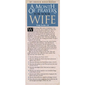 A Month of Prayers for Your Wife from Psalm 119 50-pack - Cards
