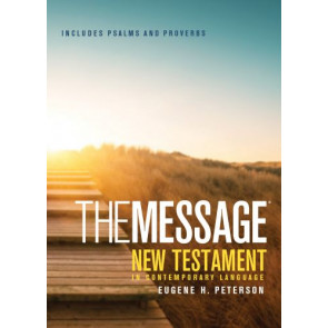 The Message New Testament with Psalms and Proverbs, Pocket (Softcover, Boardwalk Sunrise) - Softcover