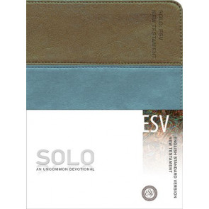 English Standard Version: Solo New Testament - Leather-Look Brown/Multicolor/Teal