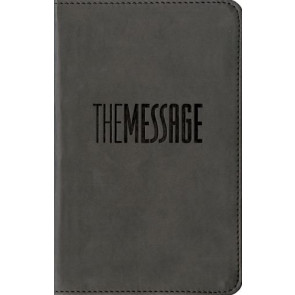 The Message Compact  - Leather-Look Graphite With ribbon marker(s)