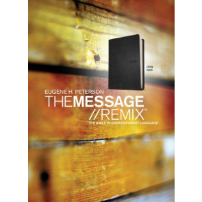The Message//REMIX (Leather-Look, Black) - Leather-Look Black With ribbon marker(s)