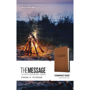 The Message Compact (Leather-Look, Tan) - Leather-Look Multicolor/Tan With ribbon marker(s)