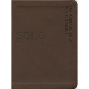 The Message Solo New Testament - Leather-Look Brown