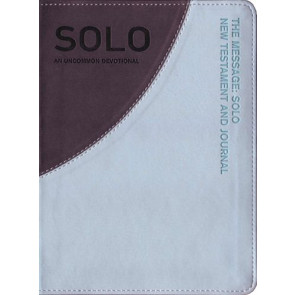 The Message Solo New Testament - Leather-Look With ribbon marker(s)