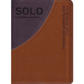 The Message Solo New Testament - Leather-Look Tan