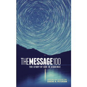 The Message 100 Devotional Bible (Hardcover, Starry Night) - Hardcover With printed dust jacket
